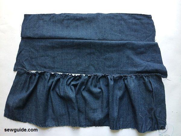 falda de jean falda con gradas