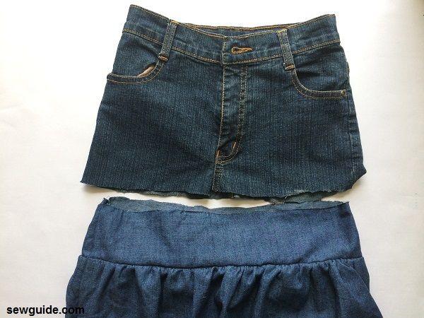 patrón de falda escalonada