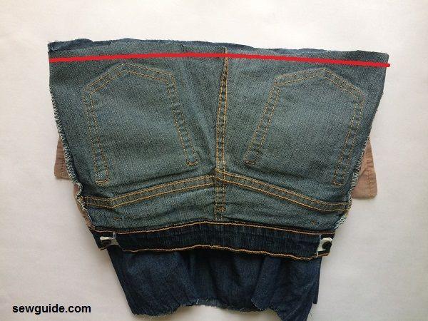 falda jeans escalonada