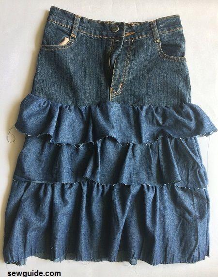 falda de jean diy