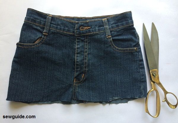 tutorial de falda de jeans