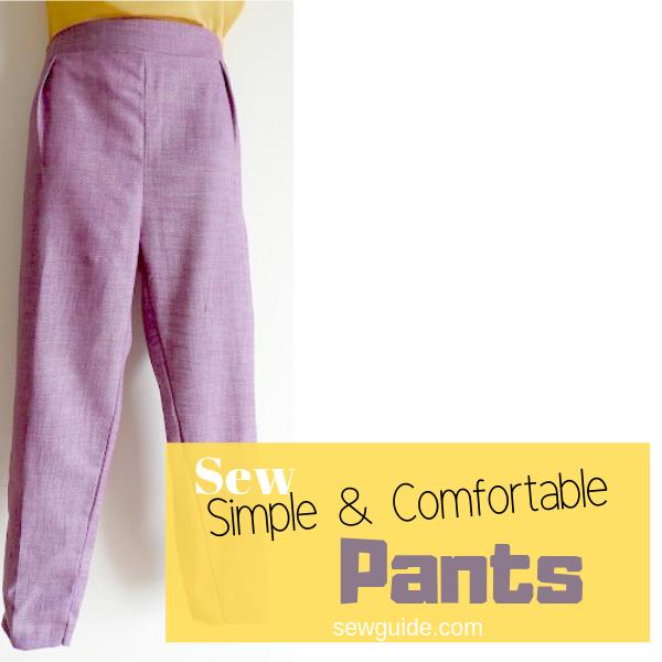 patrón de pantalones de costura y tutorial