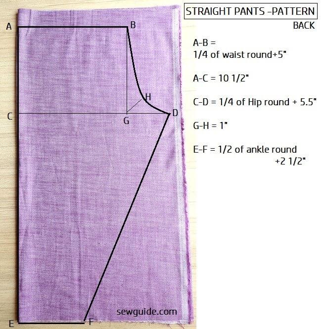 patrón de pantalón fácil