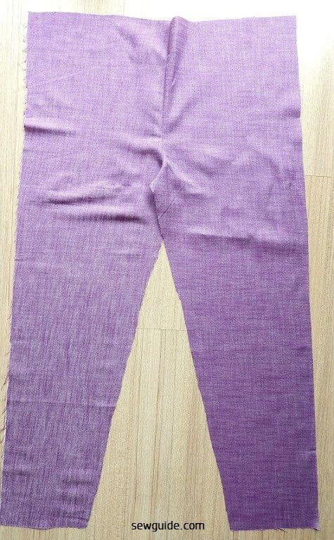 patrón de costura de pantalones