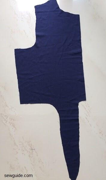 patrón de costura de camisa de corbata delantera