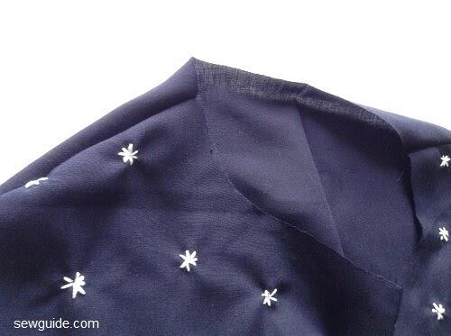 patrón de costura de la camisa delantera del lazo