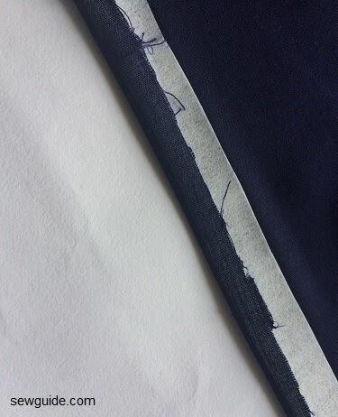 patrones de costura de la camisa de corbata delantera