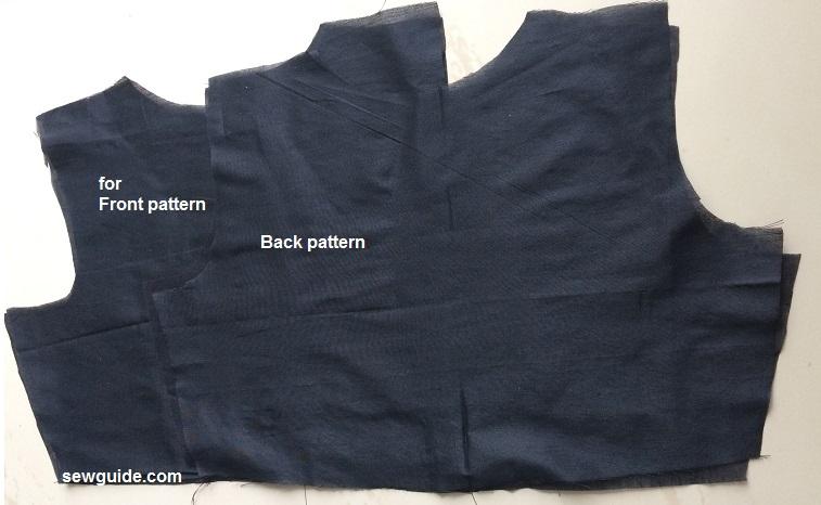 patrón de vestido de panel