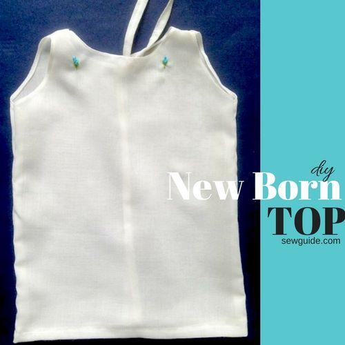 vestido recién nacido / patrón superior