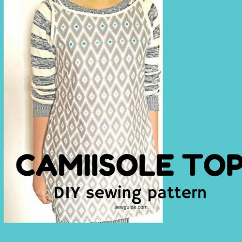 como coser un top de camisola