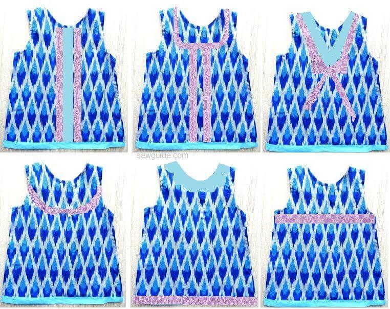 patrón de vestido aline