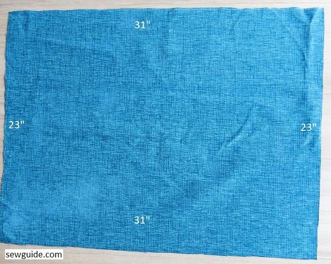 hacer la cubierta de la máquina de coser