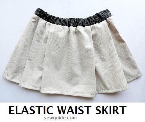patrón de falda elástica