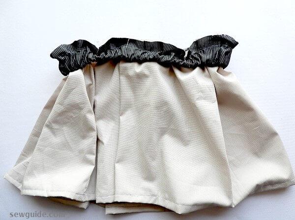 patrón de falda de cintura elástica