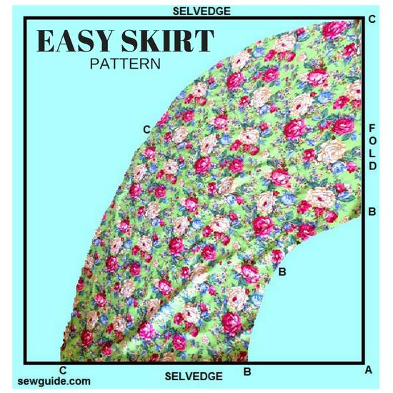 como coser una falda fácil