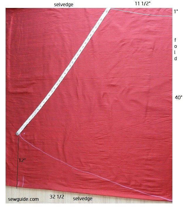 Falda acampanada larga patrón de costura libre y tutorial