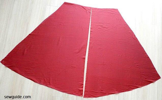 coser la falda larga acampanada diy tutorial