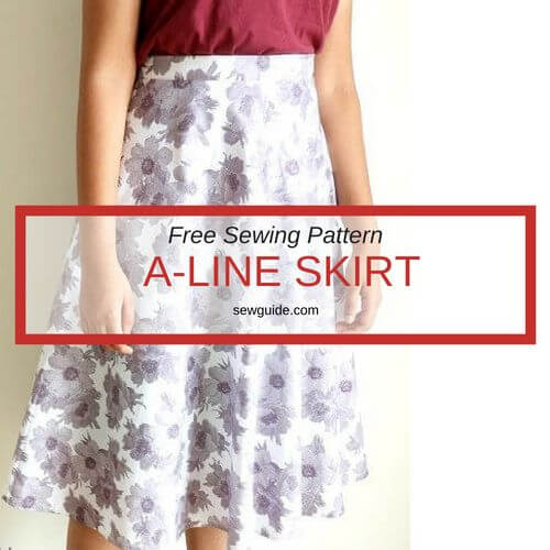 un patrón de falda de línea