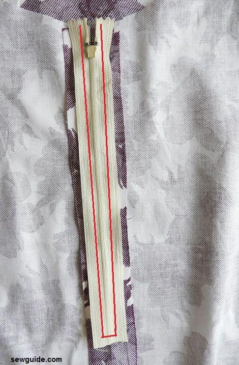 como coser una falda de aline