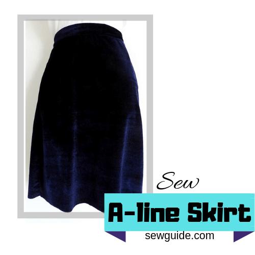 coser la falda Aline