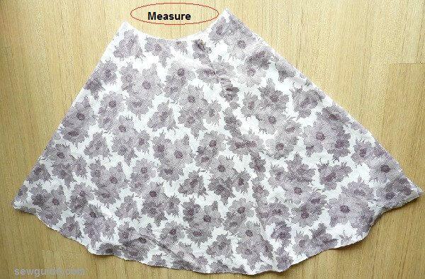 patrón de falda de alineada diy