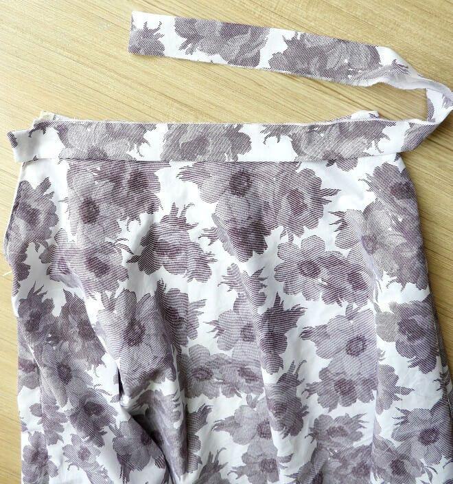 patrón de costura libre de una falda de línea
