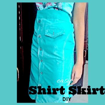 como hacer una falda de camisa