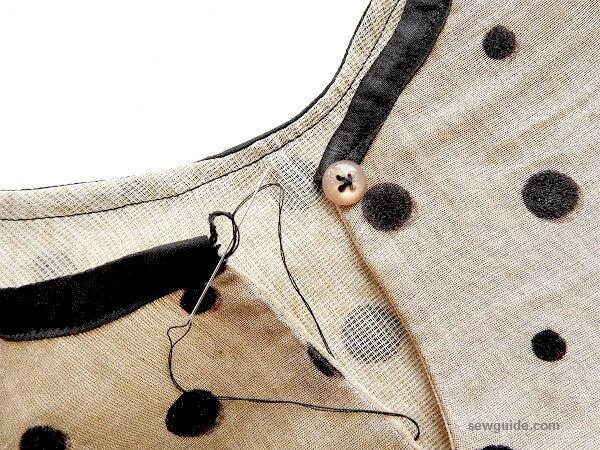 patrón de costura superior de peplum