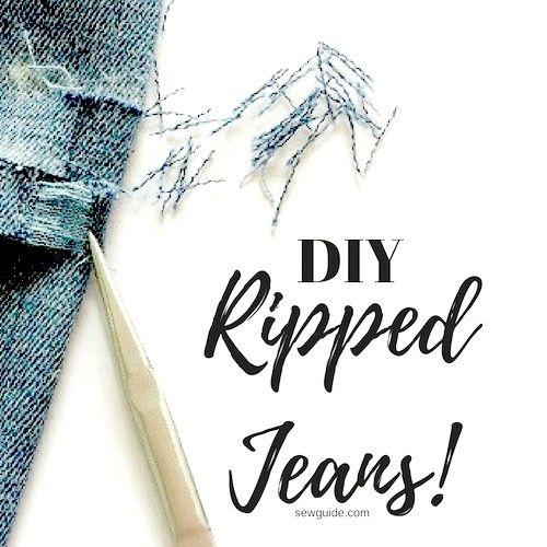 tutorial de jeans rotos