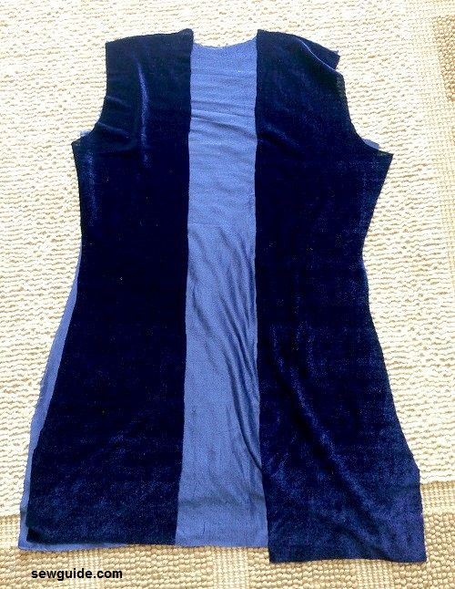 chaqueta de terciopelo diy