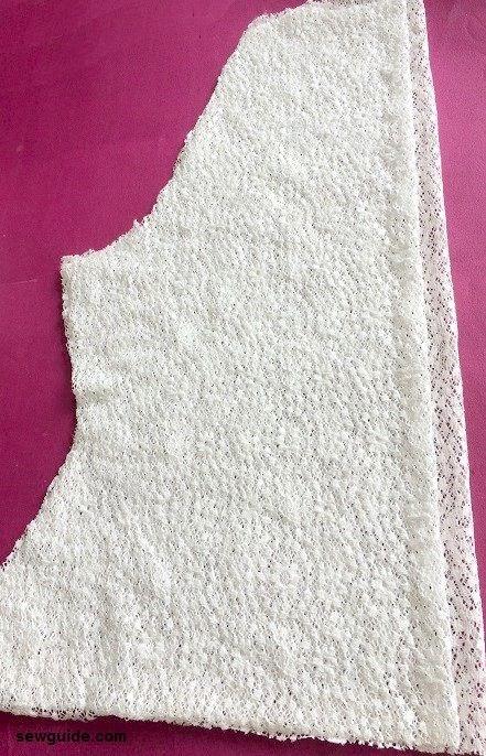 patrón de costura de chaleco de encaje