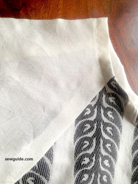 patrón de vestido campesino de costura