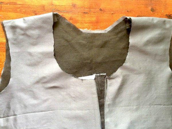 un vestido de línea patrón de costura libre