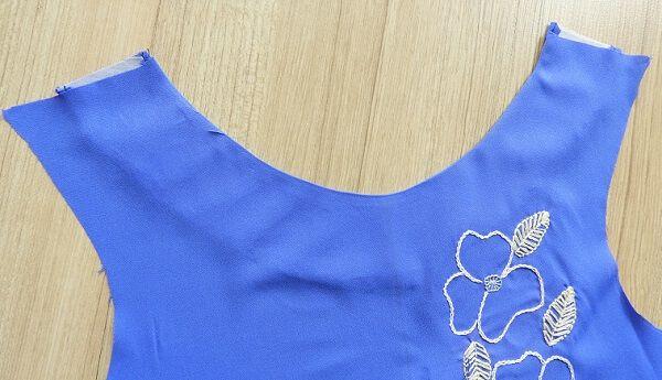 vestido aline patrón de costura libre