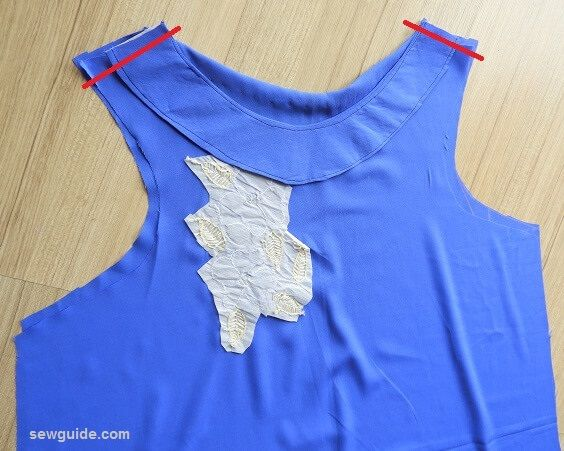 coser un vestido de línea