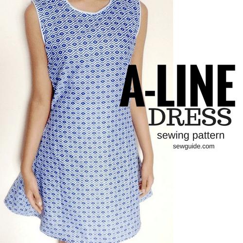 como coser un vestido aline