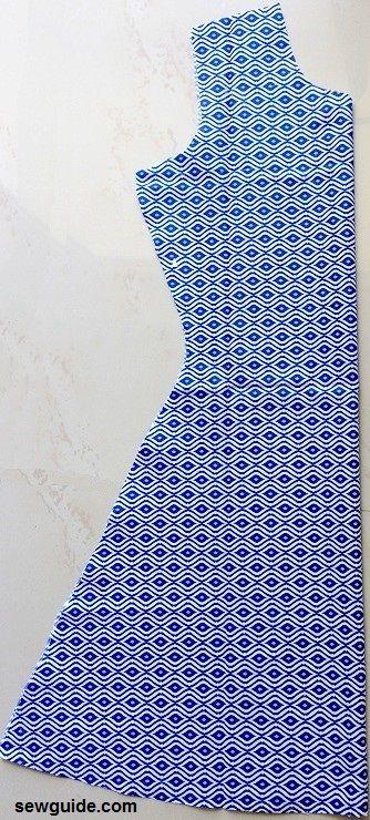 patrón de costura del vestido aline