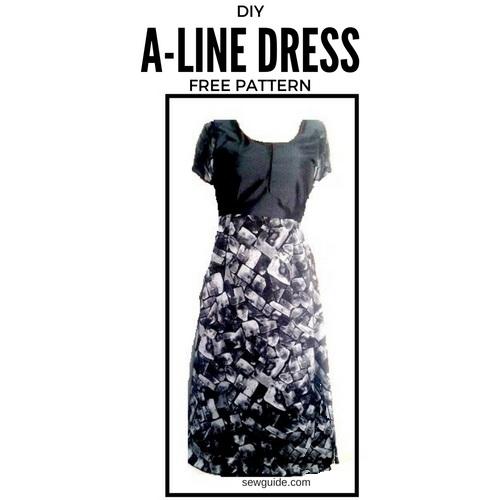 un patrón de vestido de línea