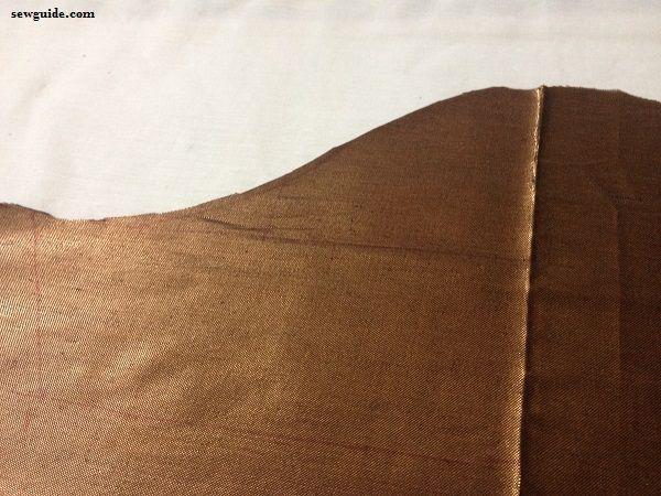 como coser una blusa sari
