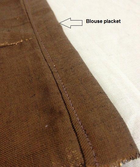 como coser una chaqueta sari