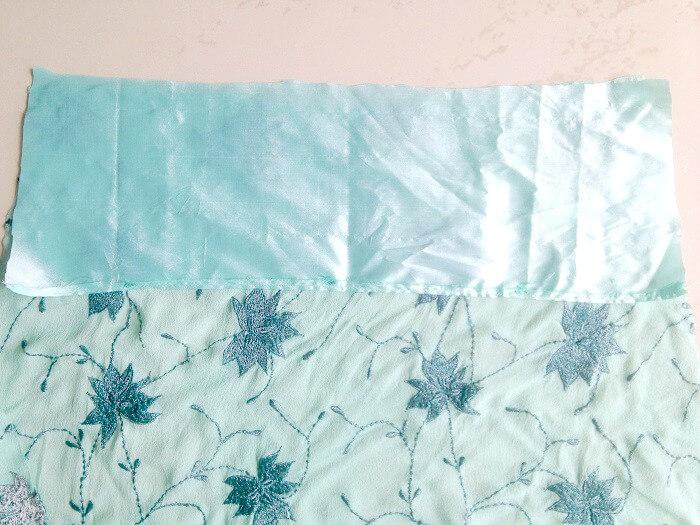 patrón de costura de falda de sirena