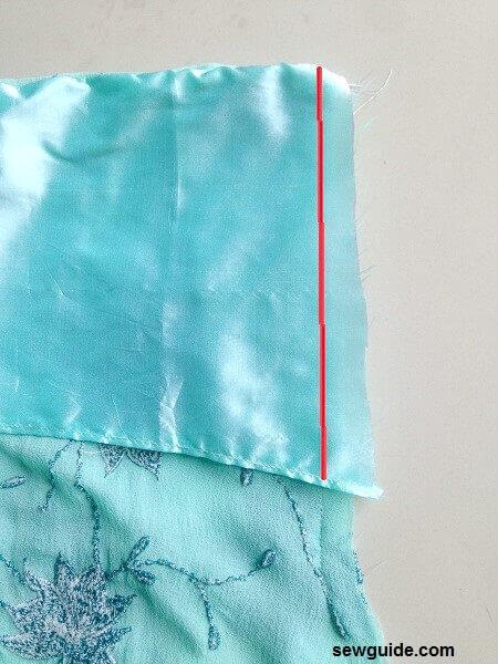 patrón de falda de cola de pez