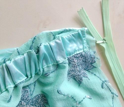 como coser una falda de sirena