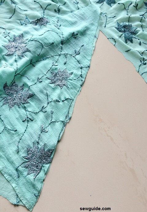 patrón de falda de sirena
