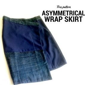 patrón de falda cruzada