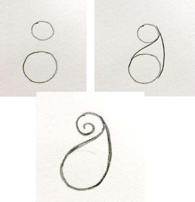 como dibujar un diseño paisley