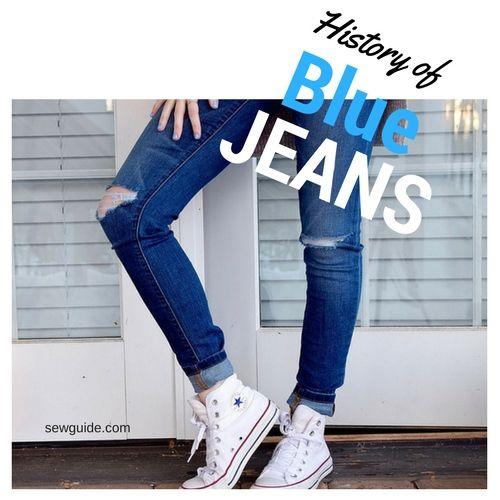 historia de blue jeans