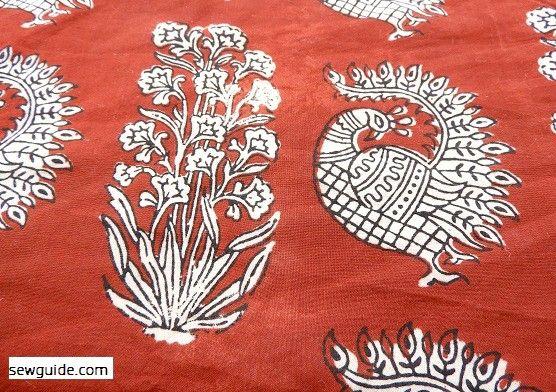 impresión de tela india
