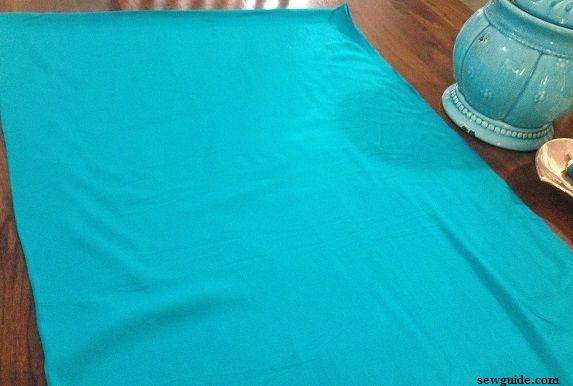 como coser el fondo de salwar kameez