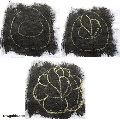 parche bordado de tela